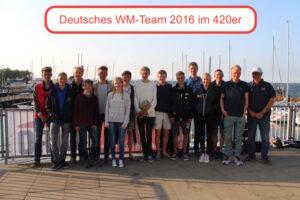 JEM und WM Ticket im 420er für DUYC-Teams 1