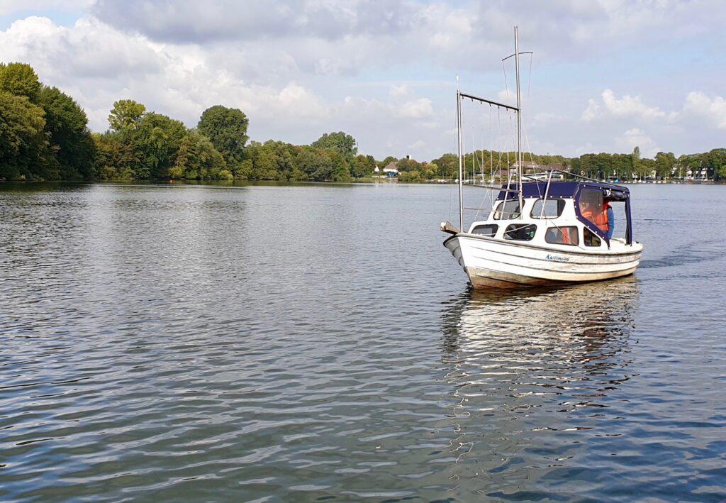 2. praktische Prüfung zum Sportboot-Führerschein Binnen am 9. September 2