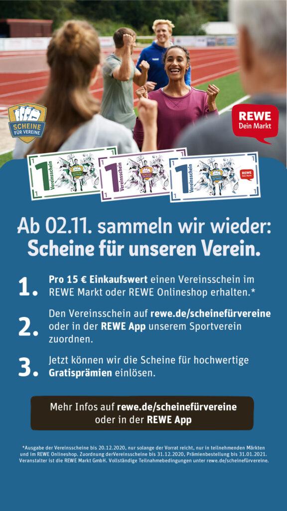 """REWE - Aktion 2020 """" Scheine für Vereine """" 1"""